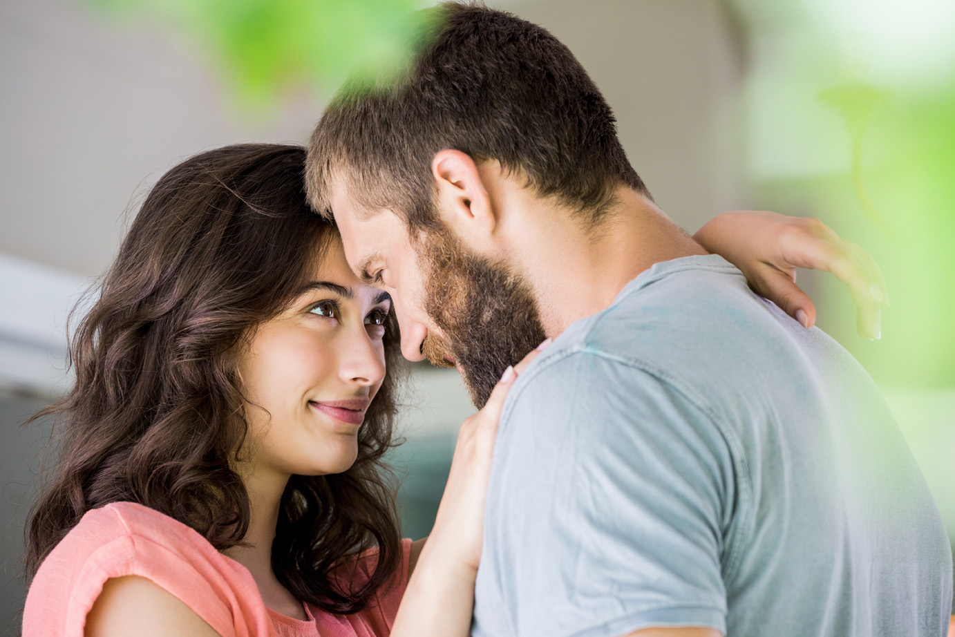 Beautiful young couple embracing each other